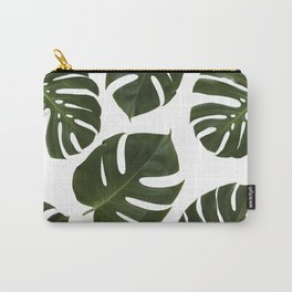 Tropical Green Palm Leaf Carry-All Pouch