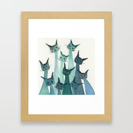 Knoxville Whimsical Cats Framed Art Print