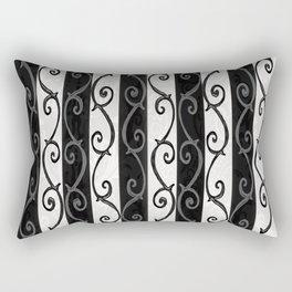 Burtonesque Stripes and Swirls.. Rectangular Pillow