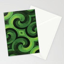GREEN WALLPAPER Pop Art Stationery Cards