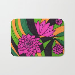 Floral Psychedelia Bath Mat