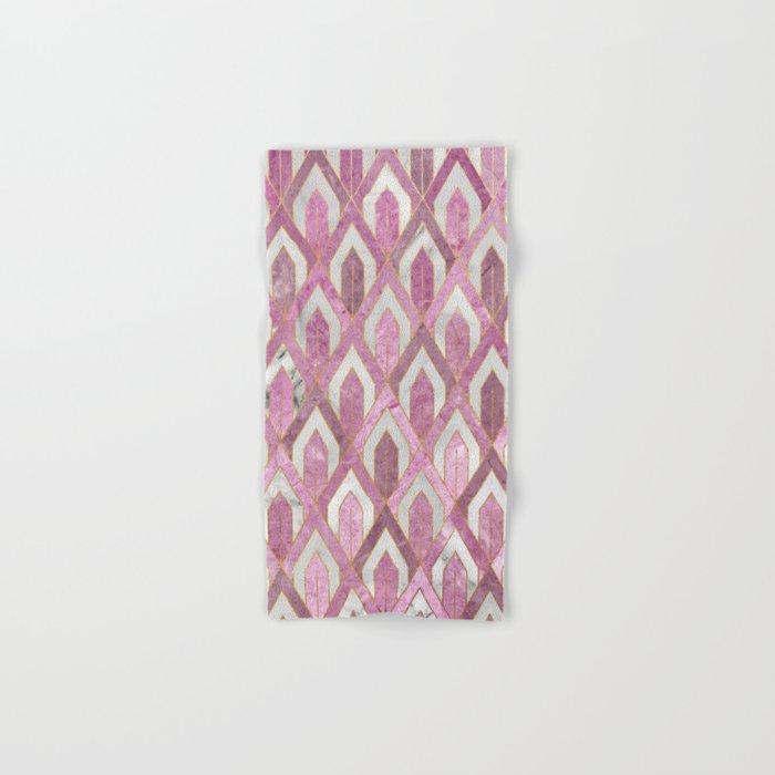 Art Deco Marble Pattern IV Hand & Bath Towel