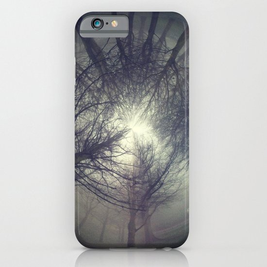 Circle of misty trees iPhone & iPod Case