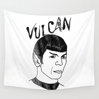 spock Wall Tapestries featuring Mister Spock by Emmanuelle Ly