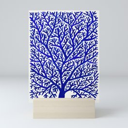 Fan Coral – Navy Mini Art Print