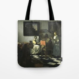 Stolen Art - The Concert by Johannes Vermeer Tote Bag