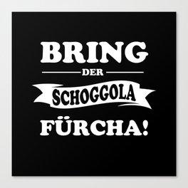 Swiss German Dialect Valais German Canvas Print