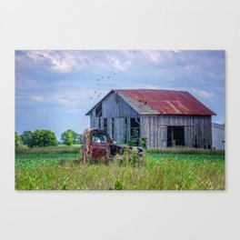 Vintage Farm Find Canvas Print