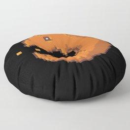 Pixel Pumpkin Video Game Floor Pillow