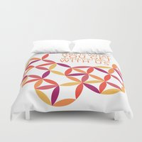 police Duvet Covers featuring Karma Police by Windsor Grace