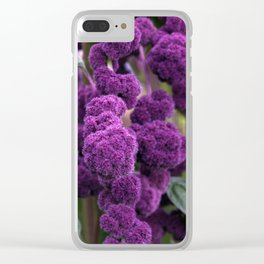 Purple Goodness Clear iPhone Case