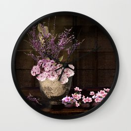 Sakura in the Night Wall Clock