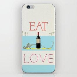 Eat Drink Love iPhone Skin