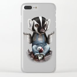 BADGER TAKES ALL Clear iPhone Case