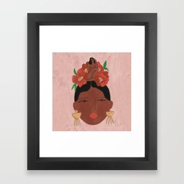 Conversation with the little voice Framed Art Print