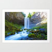 waterfall Art Prints featuring Waterfall by 2sweet4words Designs