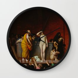 Slave Market in Ancient Rome by Jean-Leon Gerome Wall Clock