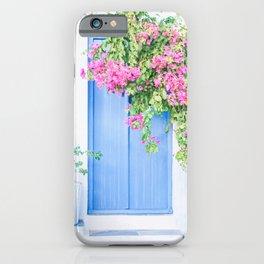 221. Flowers Door, Milos, Greece iPhone Case
