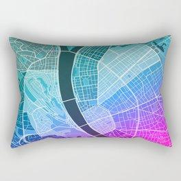 Budapest Map (Colour Gradient) Rectangular Pillow