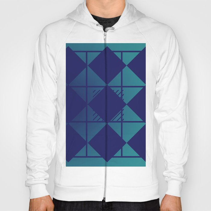 Blue,Diamond Shapes,Square Hoody