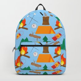 Let's Explore The Great Outdoors - Light Blue Backpack