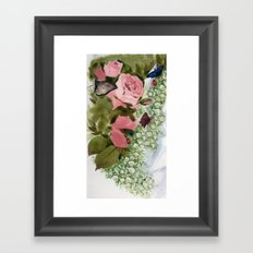 Lady bird flower queen Framed Art Print
