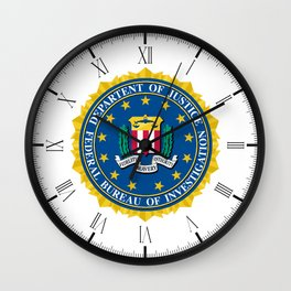 FBI Seal Wall Clock