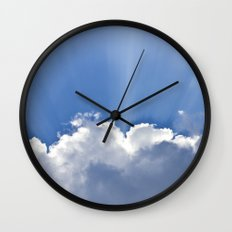 Clouds over Seaside Wall Clock