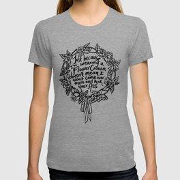 Flower Crown Black T-shirt