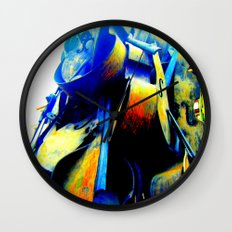Technicolor Cellos  Wall Clock
