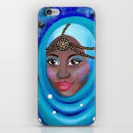 EID - Muslim Girl with Hijab - Acrylic Painting iPhone Skin