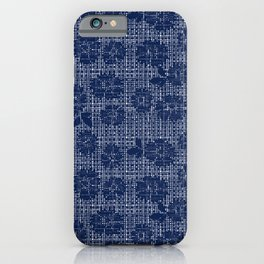 Floral Lace - Navy iPhone Case