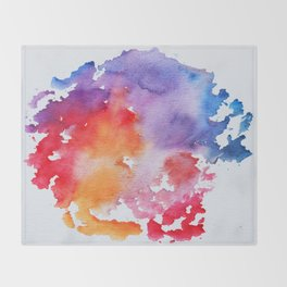 Vivid - abstract painting with pink, purple, red, orange, blue colors that pop Throw Blanket