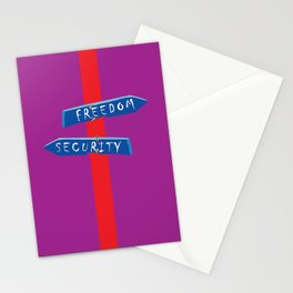 Freedom or Security Stationery Cards
