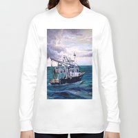 england Long Sleeve T-shirts featuring New England by Samantha Crepeau