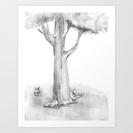 Along came the White Rabbit Art Print