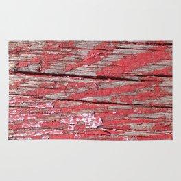 Peeled Paint on Wood rustic decor Rug