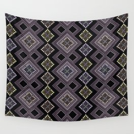 Folk beads circles ethnic pattern Wall Tapestry