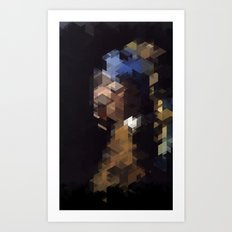 Panelscape Iconic  - Girl with a Pearl Earring Art Print