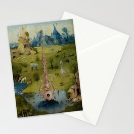Hieronymus Bosch - The Garden of Earthly Delights - Panel 1 Stationery Cards