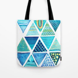 Triangle Study in Blue Tote Bag