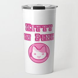 Kitty In Pink Travel Mug