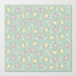 Raining Cats and Dogs (Patterns Please) Canvas Print