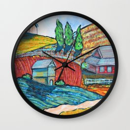The Little Farm Wall Clock