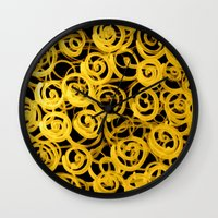 pasta Wall Clocks featuring pasta by clemm