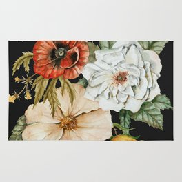 Wildflower Bouquet on Charcoal Rug