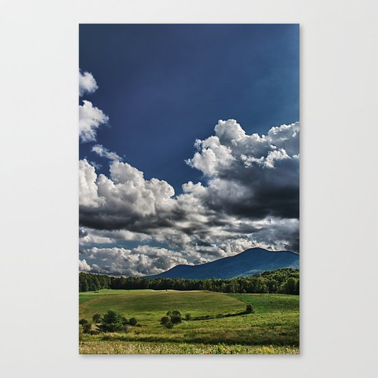 Cutting in the Valley Canvas Print