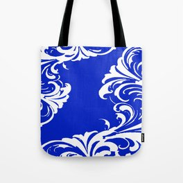 Damask Blue and White Tote Bag