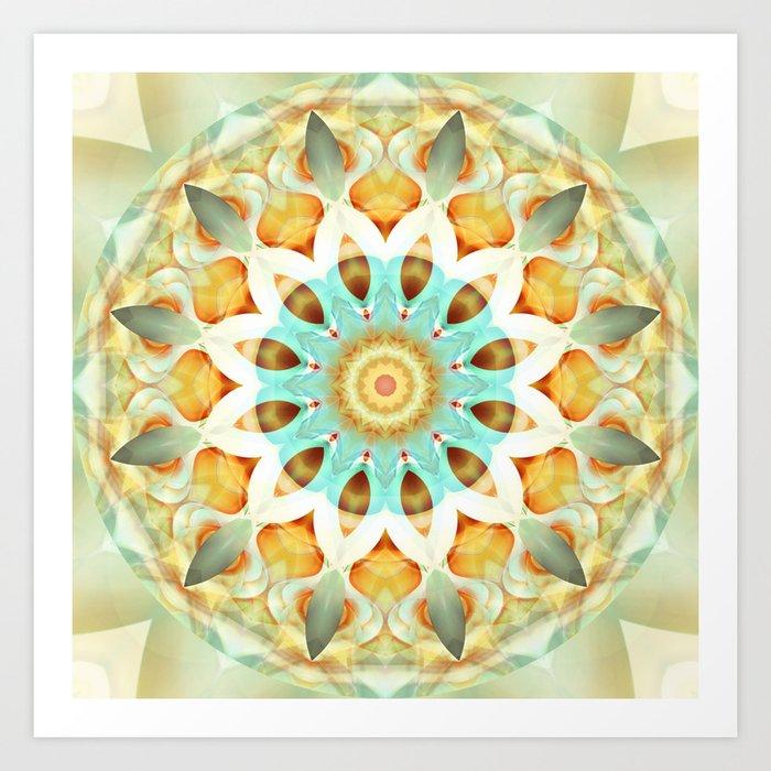 Mandala soft touch Art Print