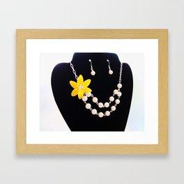 Flower Necklace On Display Framed Art Print